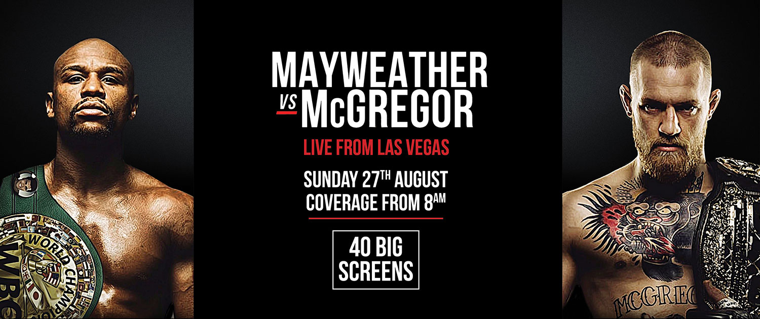 MAYWEATHER VS McGREGOR at Finns Recreation Club Bali