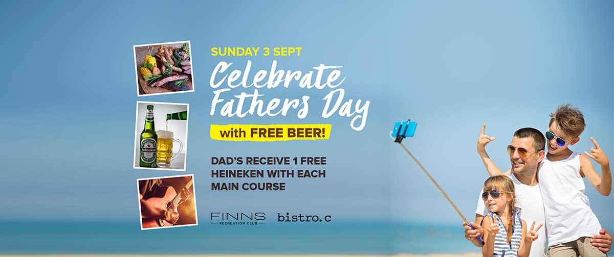 Celebrate Fathers Day at Finns Recreation Club Bali