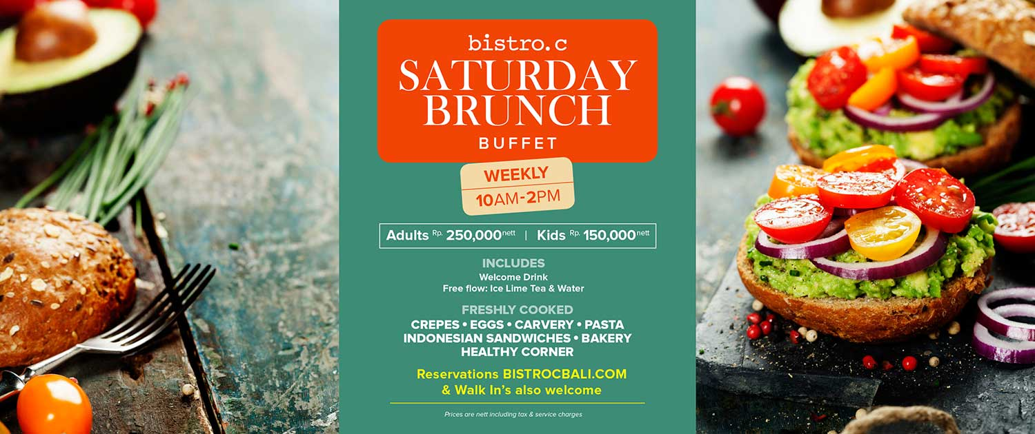 Saturday Brunch at Bistro C Smoke House Bali